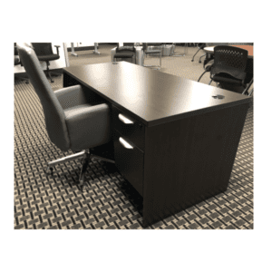 Ultra Series Single Pedestal Desk - Espresso finish