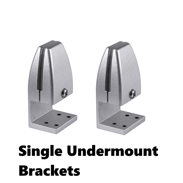 Single Undermount Brackets for desk screens