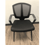 Sprint Guest Chair - Facing - Black Mesh - 3 Colors