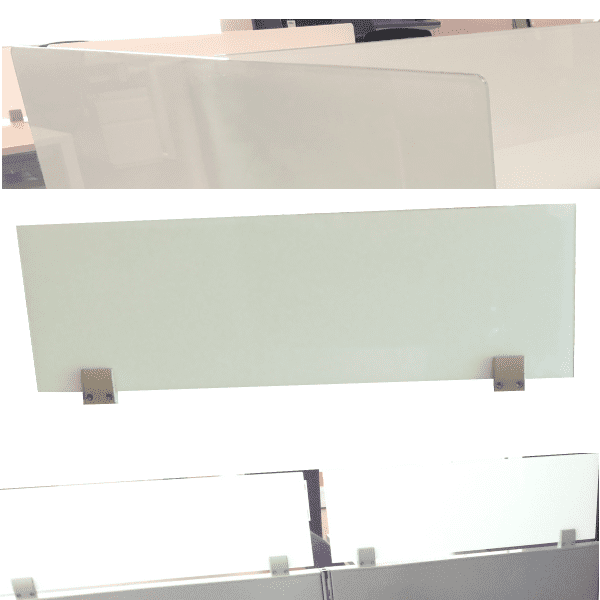 Top Mount 12 Inch Tall Glass Privacy Screens