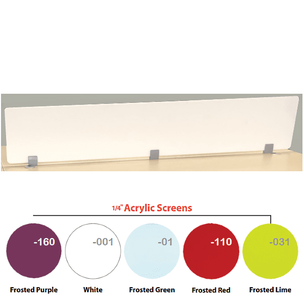 Top Mount 12 Inch Tall White Screen - 70 Inches Wide
