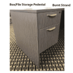 Ultra Box File Pedestal Burnt Strand