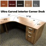 Curved Corner Desk from OFD