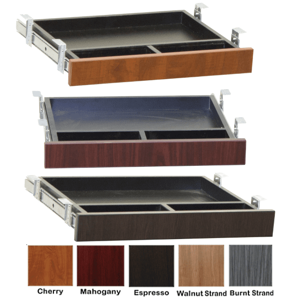 Ultra Series Center Lap Drawers in 5 Color Finishes