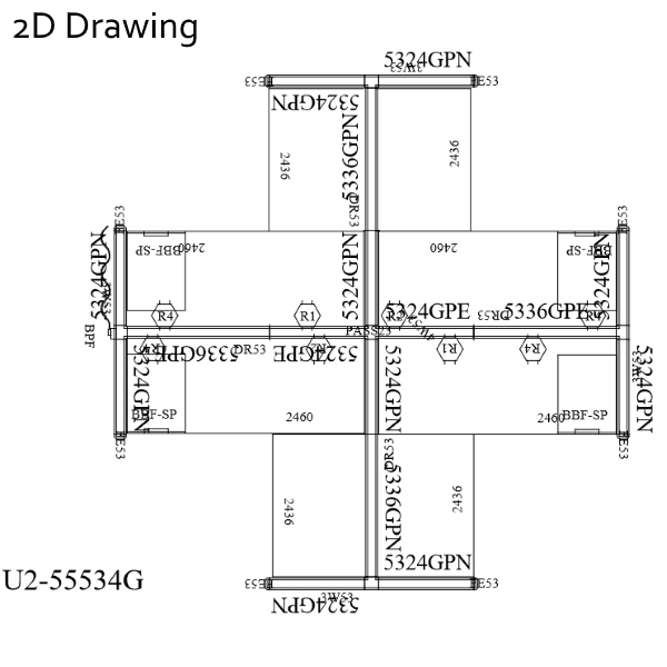 2D Drawing 4-Pack