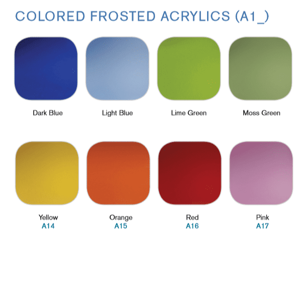 8 Colorful Frosted Acrylic Screen Colors