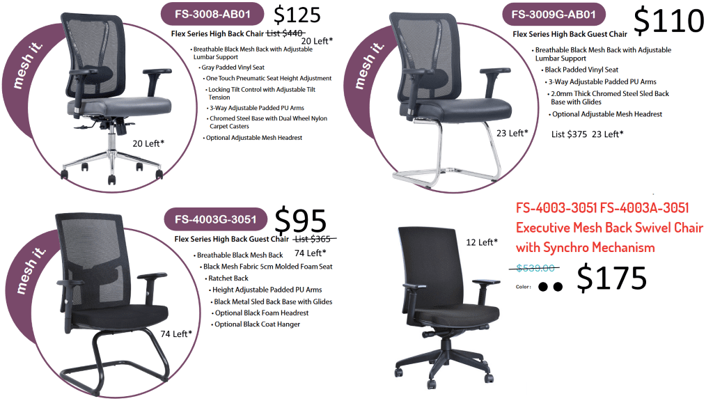 Office Seating Closeouts
