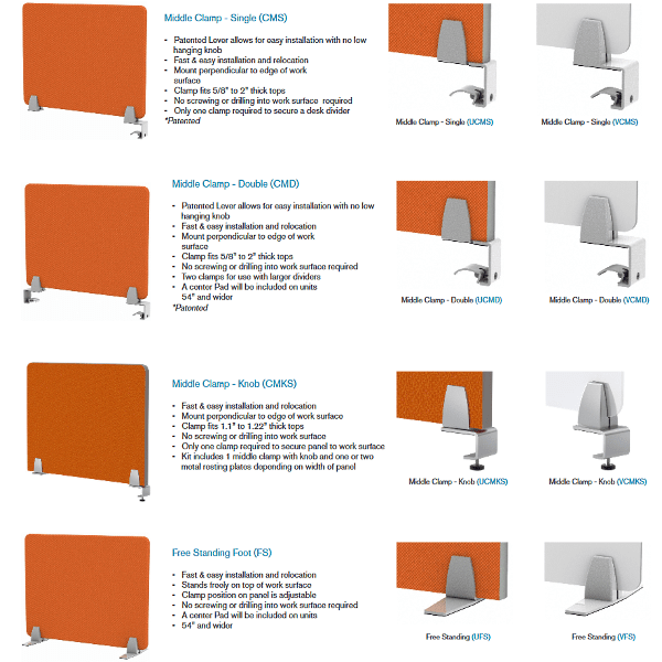 Enclave Panel - Mounting Options - Clamp & Freestanding