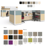 Maxon Emerge Frame + Tile Cubicle Workstations Group - Mid Wall
