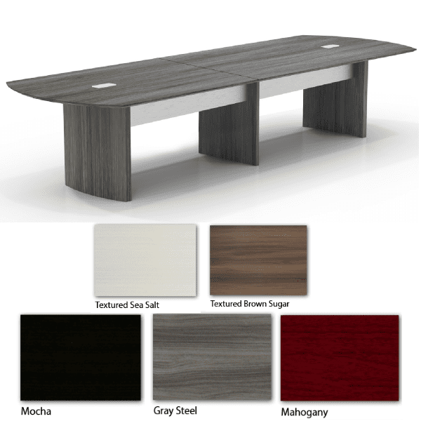 Mayline Medina 12 Feet Conference Table - Gray Steel - 5 Colors