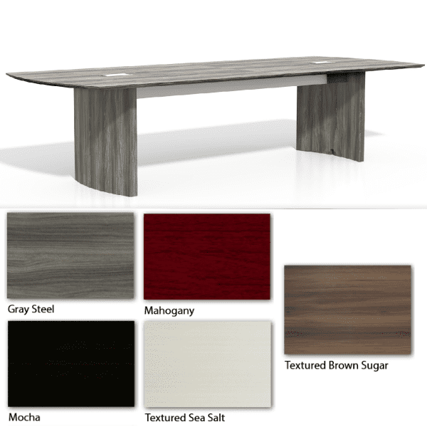 Mayline Medina 10 Feet Conference Table - Gray Steel Finishes - 5 Colors