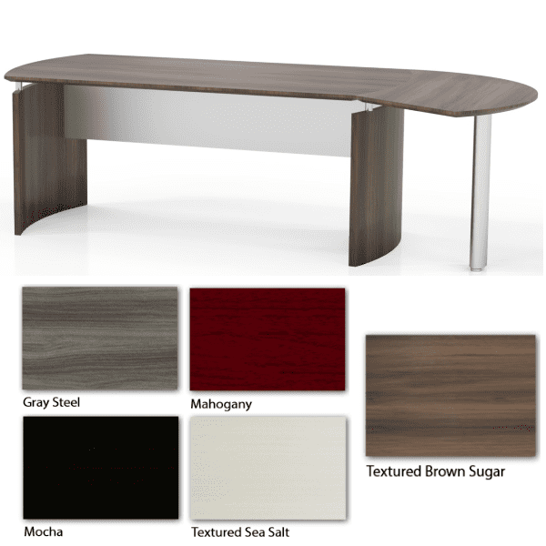 Mayline Medina Contemporary Desk - 5 Color Finishes - 2 Sizes - In Stock