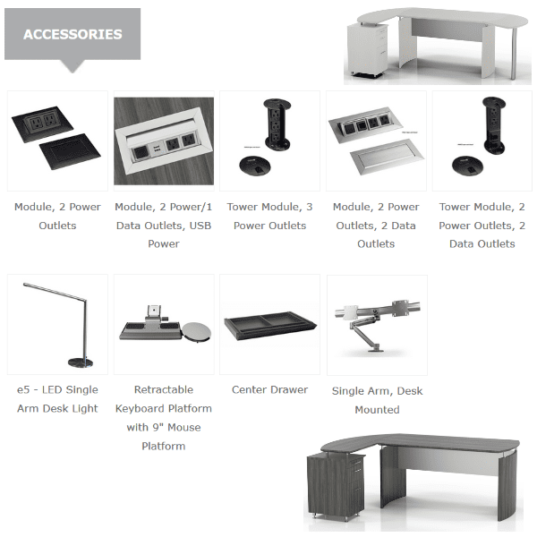 Mayline Medina Desk Accessories - Desk Enhancements
