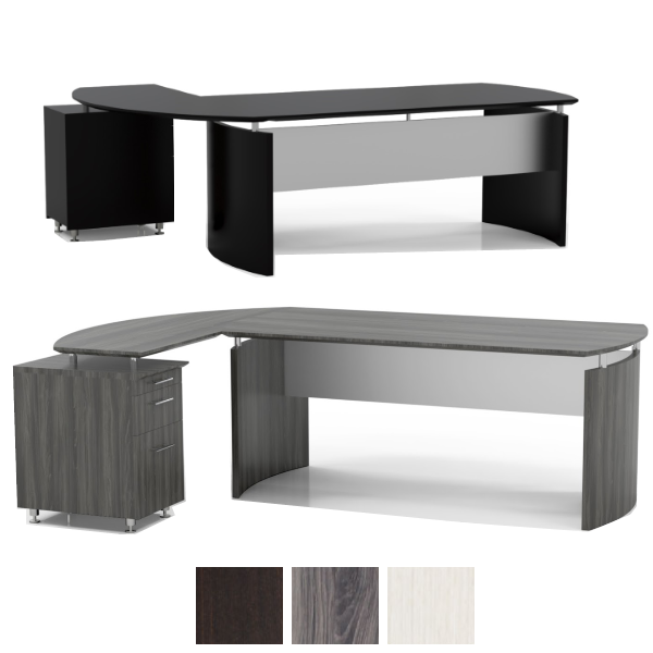 MND63 MND72 MNRTP Medina Collection - Safco - Desk with Curved Return