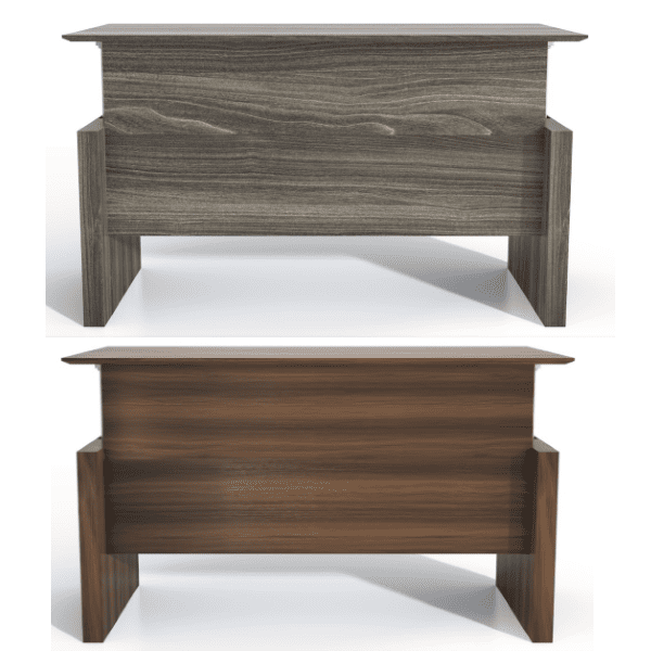 Medina™ Height-Adjustable Straight Front Desk - Approach - Gray Steel + Textured Brown Sugar - 5 Finish Colors