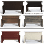 Medina™ Height-Adjustable Straight Front Desk Gallery - Approach- 5 Finish Colors
