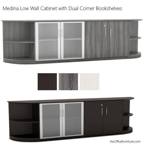 Low Wall Hospitality Cabinet in 3 Colors