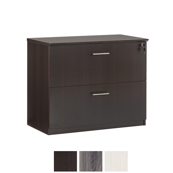 2-drawer lateral file in mocha
