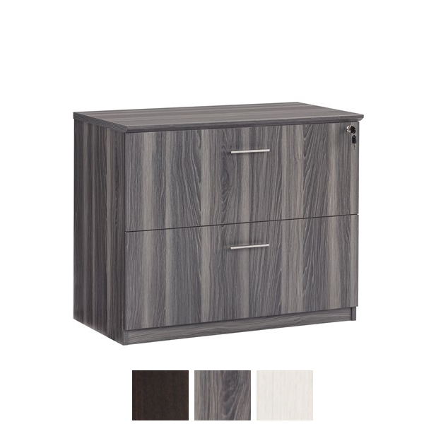Steel Gray 2-drawer lateral file cabinet