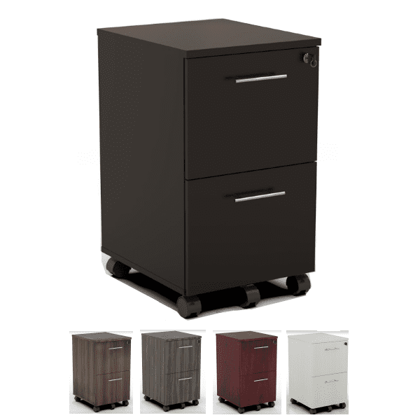 Medina 3-Drawer Mobile Storage Filing Pedestals - Mocha