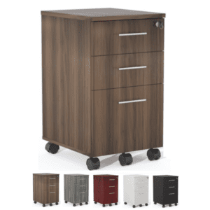 Medina 3-Drawer Mobile Storage Filing Pedestals