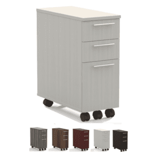 Medina 3-Drawer Skinny Mobile Storage Filing Pedestal