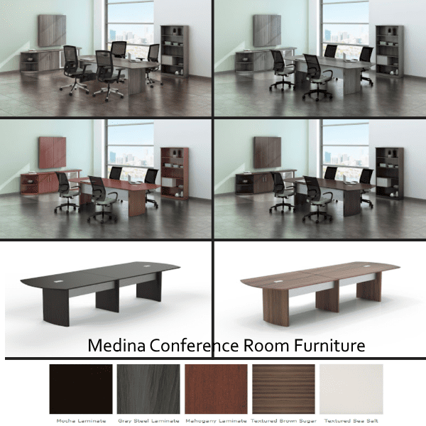 Medina Conference Room Furniture - Tables - Storage - Accessories