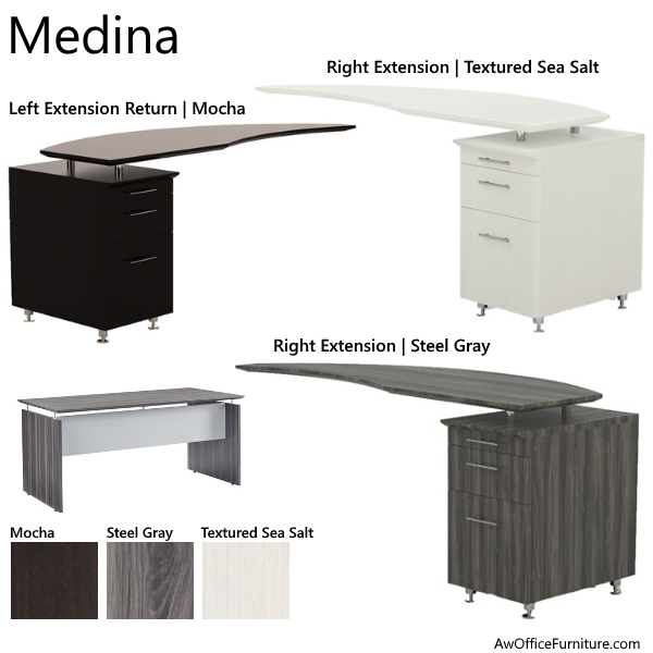 Curved Desk Return - Medina Series