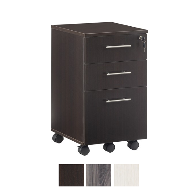 Mocha Finish 3-Drawer File