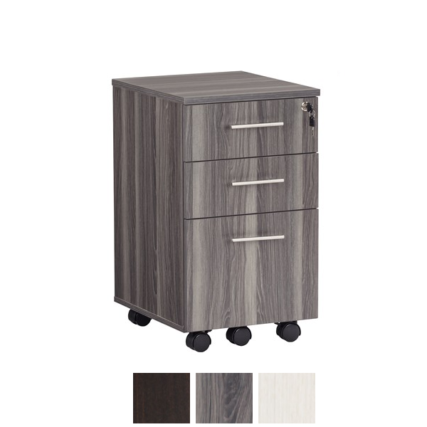 Steel Gray MNBFF Mobile File Cabinet Pedestal