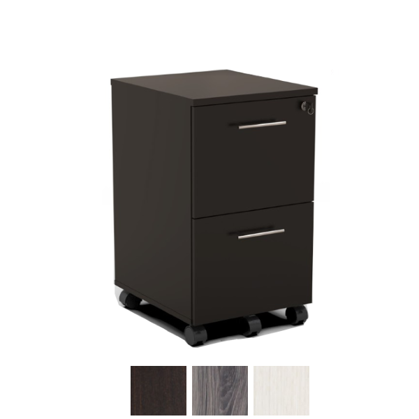 MNFF Mocha Finish - Mobile File File Pedestal