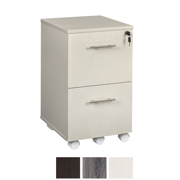 Sea Salt Finish - Medina Mobile 2-Drawer File Cabinet Pedestal