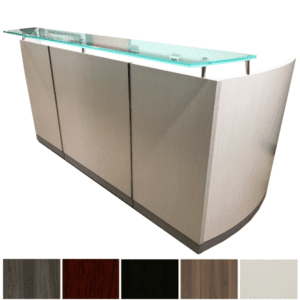 Mayline Safco Medina Reception Desk with Glass Counter