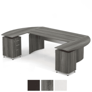 Medina U-Shaped Desk with Modesty Panel - Dual Pedestal Returns