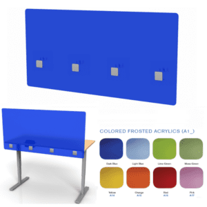 Midtown Colored Acrylic Desk Panel
