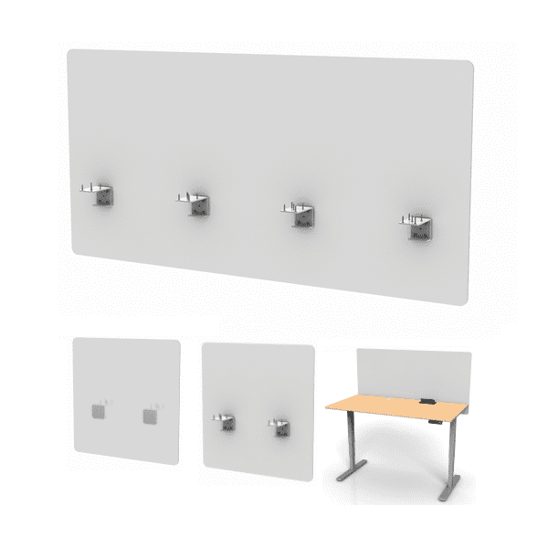 Midtown Frosted Acrylic Desk Panel