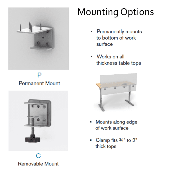 mounting bracket options