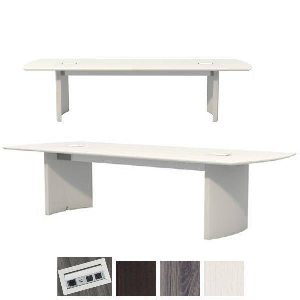 10' Mirella Conference Table in Textured Sea Salt - TSS