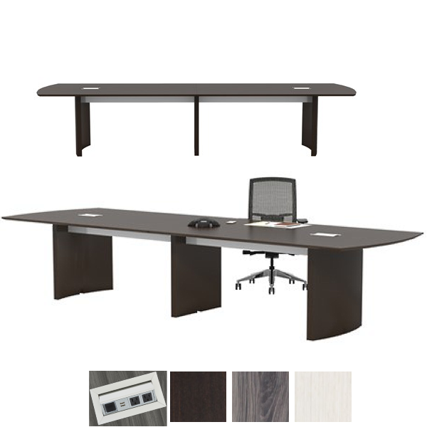 14' Mirella Conference Table in Mocha