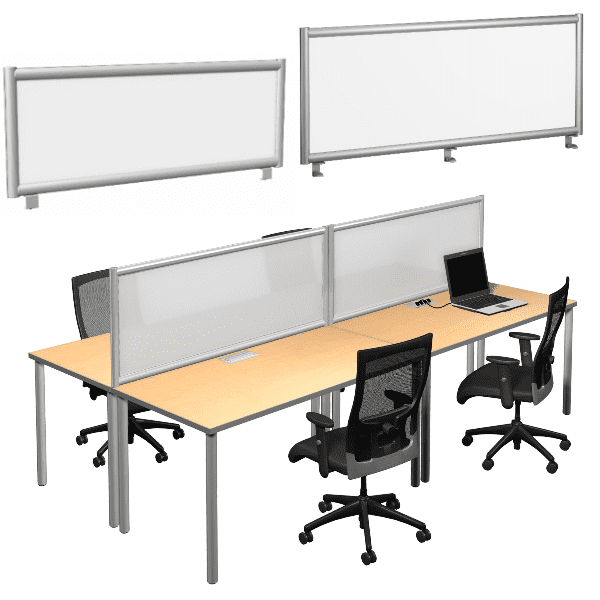 Terrace Dry Erase Whiteboard Panels Facing Dividers - Various Sizes