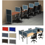 Terrace Fabric Privacy Panel Desk Dividers