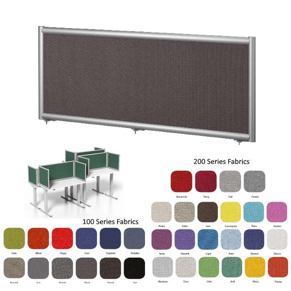 Terrace Panel - Fabric - 10 Widths - 32 Colors - 4 Heights - Screens - Aluminum Frame
