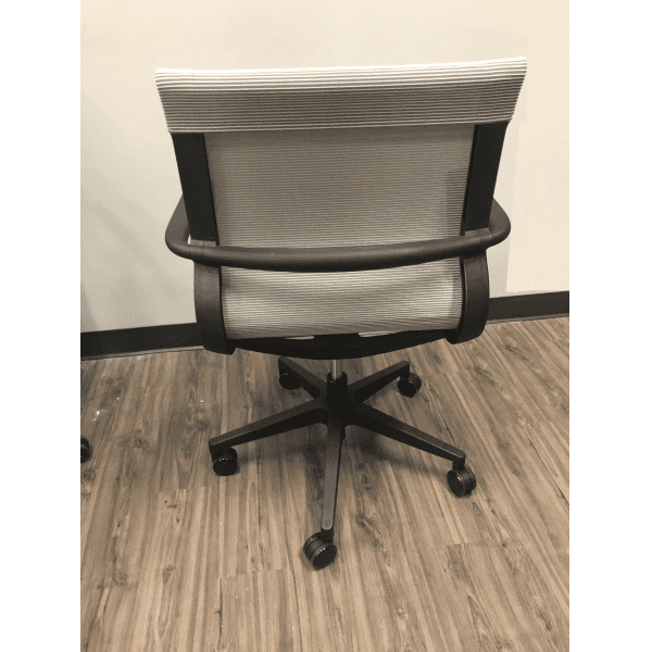 21621 All Silver Mesh Office Chair - Rear