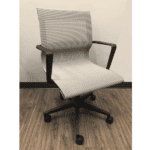 Silver Mesh Office Swivel Chair