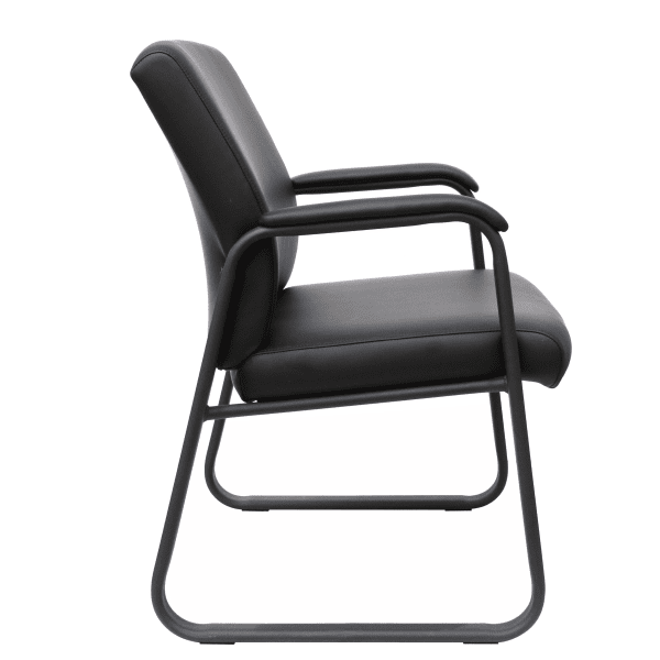 AQ-350 Guest Chair - Side - Black Bonded Leather