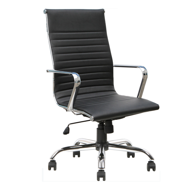 aq 3509 modern high back office swivel chair in stock 19659 | aq 3509 black high back tilt swivel lock black pu