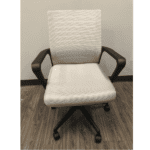 Gray Mesh Chair with Gray Fabric Seat - Front