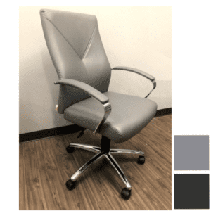 Boxero Conference Chair with Chrome Trim