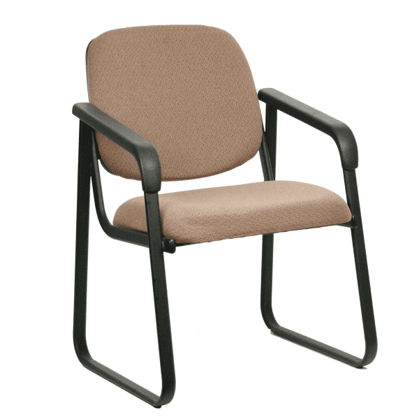 ES-5531 Sled Base Guest Chair - Grade B Tan Fabric Seat + Back - 100+ Colors Available