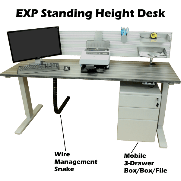 EXP Standing Height Adjustable Powered Workstation - Express Office Furniture